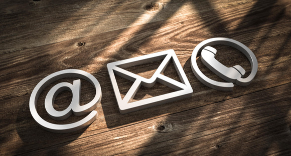 3D Illustration Kontakt Symbole metal